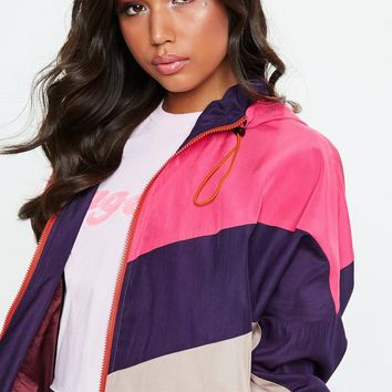 Missguided - Pink Sporty Wind Breaker Jacket