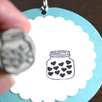 Lots of Love Mason Jar Stamp Small Stamp for gift tags, back of handmade cards, business owners