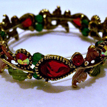 Red Floral Bracelet Jewelry