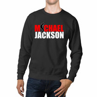 Michael Jackson Name Text Silhouette Unisex Sweaters - 54R Sweater