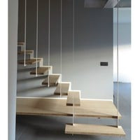 Steel and wood Open staircase UP by Jo-a | design Sébastien Boucquey