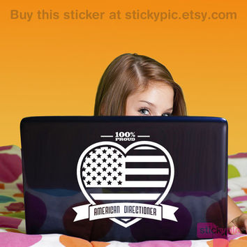 ~~100% American Directioner~~ Laptop/Wall Decal by stickypic