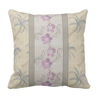 Hibiscus Designer Outdoor Pillow