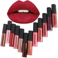 Fashion Makeup Matte Lipstick Long-Lasting Liquid Lip Makeup Tint Tattoo Lipstick Easy To Wear Nude Red Lip Gloss Cosmetic NJ65
