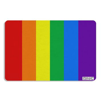 Rainbow Vertical Gay Pride Flag Placemat All Over Print by TooLoud
