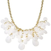 Women's Assorted Stone Cluster Necklace - Gold/White