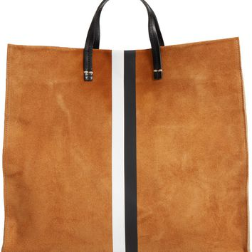Clare V. Simple Stripe Suede Tote | Nordstrom