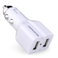 RAVPower Dual USB Car Charger (15.5W / 3.1A) for iPhone 6, 5S, 5C, 5, 4S, 4, iPad 4, 3, 2, Mini, iPods, Samsung Galaxy S5, S4, S3, S2, Note 3, Note 2, HTC One, EVO, Thunderbolt, Incredible, Droid DNA, Motorola ATRIX, Droid, Moto X, Google Glass, Nexus 4, N