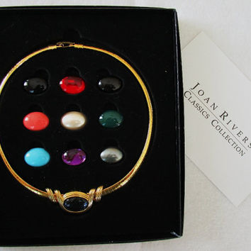 Joan Rivers Interchangeable Omega Slide Necklace Set Classics Collection