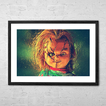Chucky, Illustration - Wall art Poster - Fine Art Print for Interior Decoration