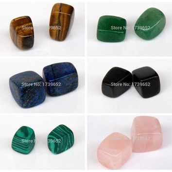 ONETOW Assorted Natural stone Tumbled Stones Crystal Quartz Aventurine Obsidian Points Beads Chakra Healing Reiki