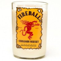 (1) FireBall® 18 oz Candle With Wick - Bottle Heaven