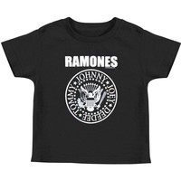 Ramones Boys' Seal Black Toddler T-Shirt Childrens T-shirt Black