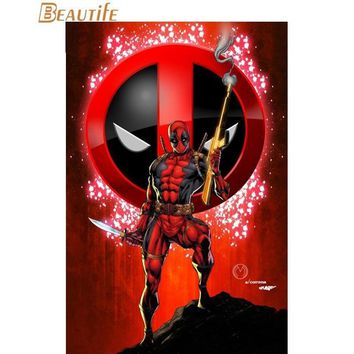 Deadpool Dead pool Taco New Marvel 02  Poster Cloth Silk Poster Home Decoration Art Fabric Poster Print 30X45cm,40X60cm.50X75cm,60X90cm AT_70_6