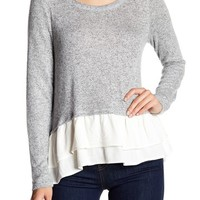 LE LIS COLLECTION | Ruffled Hem Brushed Sweatshirt | Nordstrom Rack