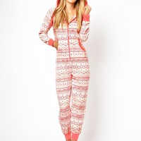 New Look Aztec Fairisle Onesuit