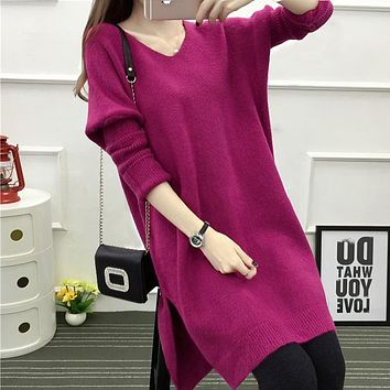 Big yards of maternity clothes sweater jins fat mm long render unlined upper garment of pregnant women dress