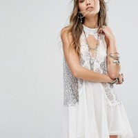 Free People Tell Tale Heart Sleevless Tunic Dress at asos.com