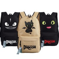 New How to Train Your Dragon Backpack Anime NightFury  oxford Schoolbags Fashion Unisex Travel Bag