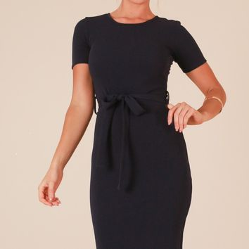 Morning Rose dress in navy Produced By SHOWPO