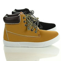 Rocsi03 Work Boot Lace Up Flat Fashion Sneaker