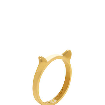 Kate Spade Out Of The Bag Cat Ears Ring Gold