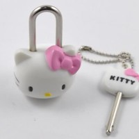 Hello Kitty Mini Pad Lock With Key