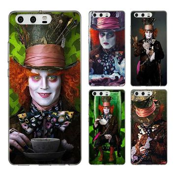 LISM Alice In Wonderland Johnny Depp Hard Case For Huawei Honor 9 8 Lite 10 6C 7A Pro 6A Play 7X Phone Cover