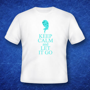Iron on Frozen keep calm and let it go T-shirt design Disney's Frozen Disney Princesses Princess Anna Elsa shirt Chalk Girl Printable