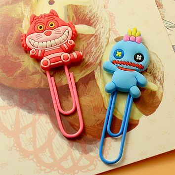 Kawaii Cartoon Characters Paper Clip Bookmark Promotional Toy Finger Action School Office Supply As Gift For Kids