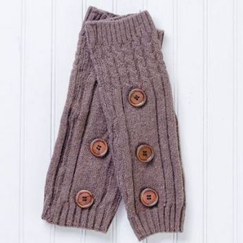 Cozy Legwarmers with Buttons