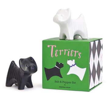 Terriers Salt and Pepper Shakers
