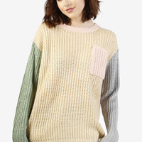 Pastel Color Block Sweater
