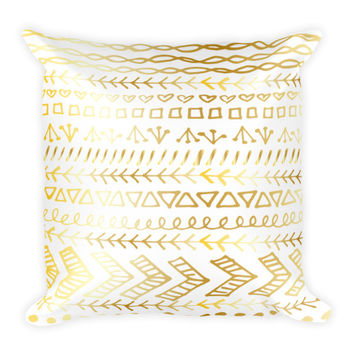 Gold Tribal Pillow