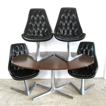Original Vladimir Kagan for Chromcraft Dining Set