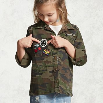 Girls Camo Patch Jacket (Kids)