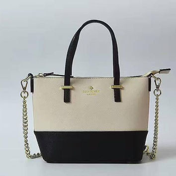 KATE SPADE Women Shopping Leather Metal Chain Crossbody Satchel Shoulder Bag