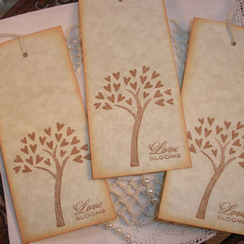 Wedding Wish Tree Tags Love Blooms Set of 25