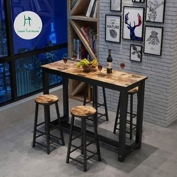 Louis Fashion Bar Tables Custom-made Minimalist Living Room Partition Wall Long Antique High