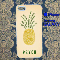 Psych Pinapple fit cover for iphone 5/5c/5s iphone 4/4s samsung galaxy S4/S3
