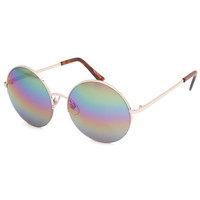 Full Tilt Bowie Round Sunglasses Rainbow One Size For Women 24671395101
