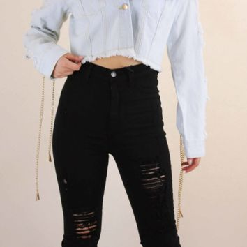 Crop Top Denim Jeans Jacket