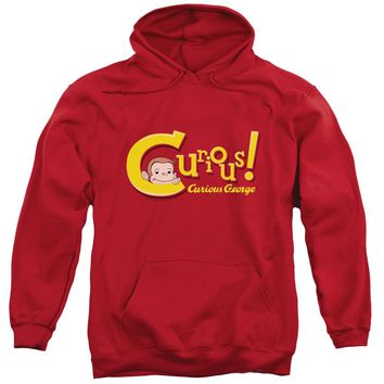 Curious George - Curious Adult Pull Over Hoodie