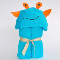 Bamboo rayon Alien Hooded Turkish Towel:Little Kid
