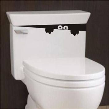 1pc 28Cm*4Cm Funny Peek Monster Toilet Seat Bathroom Wall Car Decal Sticker Vinyl Art Mural