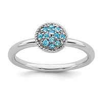 Sterling Silver Stackable Expressions Blue Topaz Ring