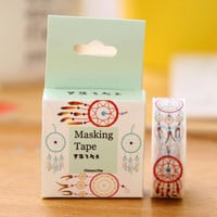 JH104 1.5cm Wide Let Dreams Fly Washi Tape Adhesive Tape DIY Scrapbooking Sticker Label Masking Tape