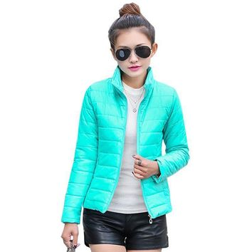 Trendy 2015 NEW brand new women's jacket to keep warm in winter padded silk, ladies fashion casual Slim padded winter jacket AT_94_13