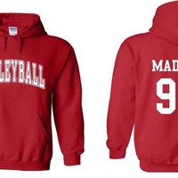 Volleyball Custom Name & # Hooded Sweatshirt