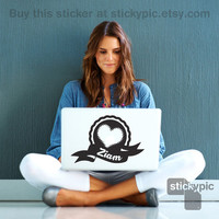 I Heart Ziam One Direction Laptop Sticker 1D Wall by stickypic